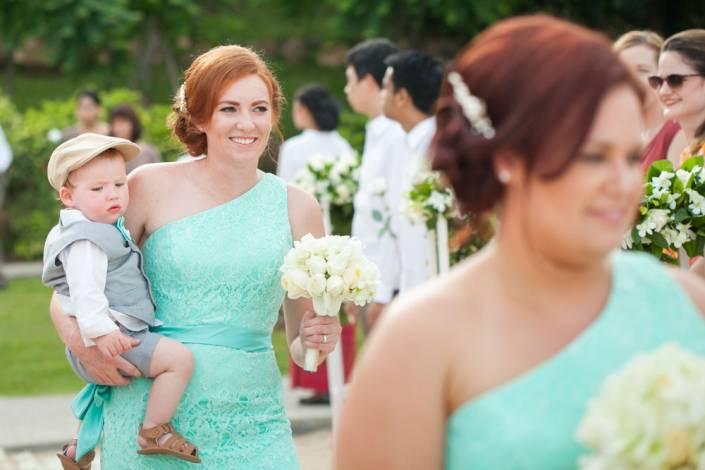 Ash and Chris's beach wedding photo at Nora bury beach Resort Koh Samui ,Thailand.