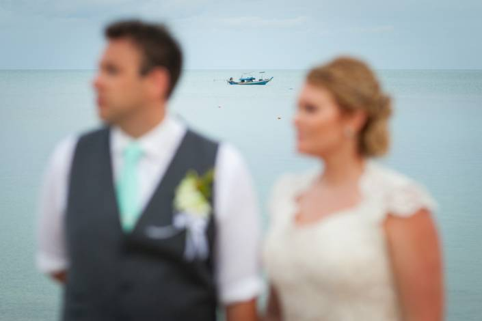 Ash and Chris's beach wedding photo at Nora bury beach Resort Koh Samui ,Thailand.