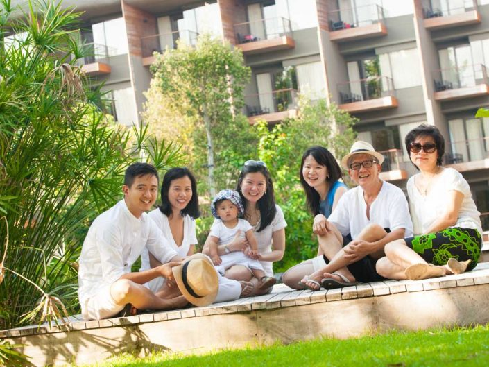 Sarah's family photo in Phuket Thailand.