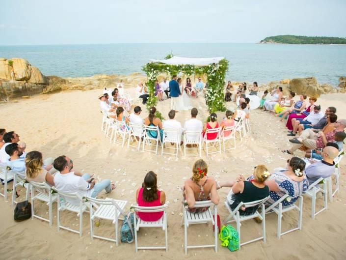 Julie & Ian's beach wedding
