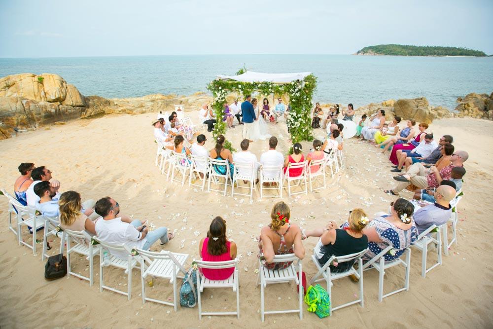 Julie and Ian's Thailand beach wedding at Nora beach Resort Koh Samui.