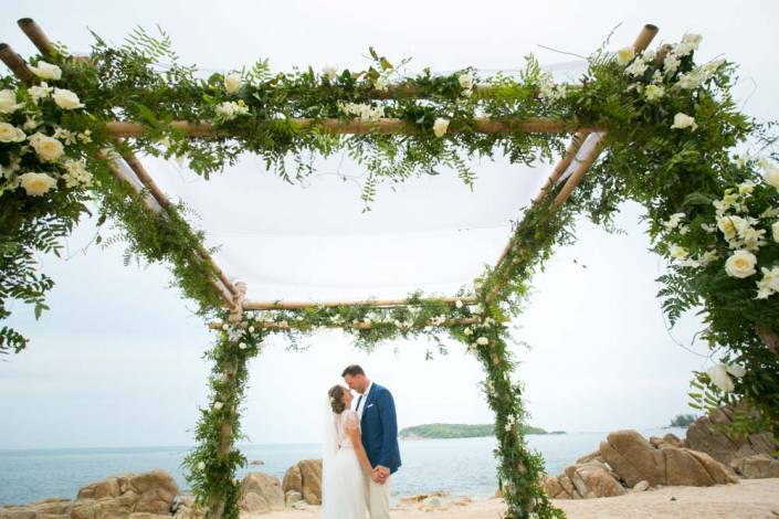 Julie and Ian's Thailand beach wedding at Nora beach Resort Koh Samui.