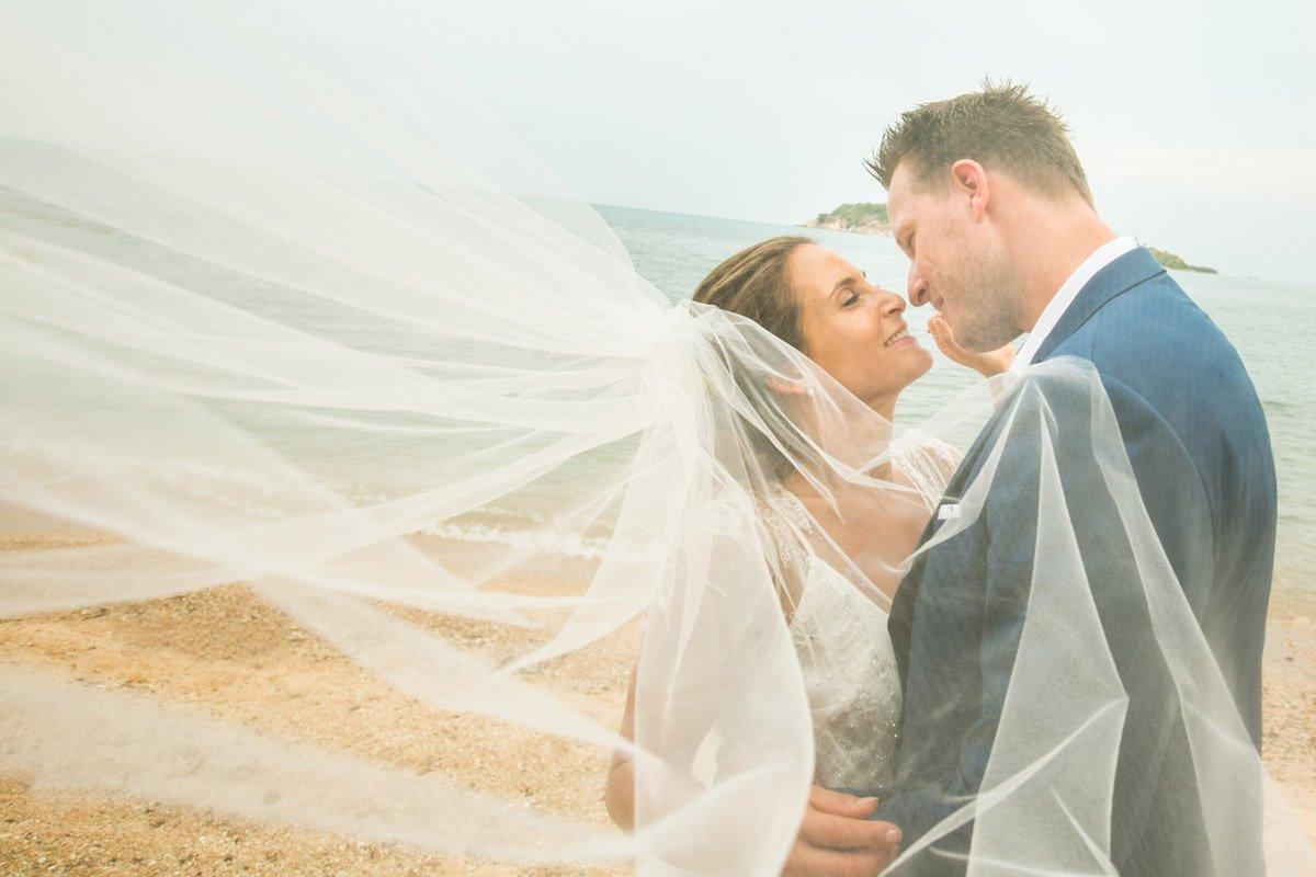 Julie and Ian wedding at Norabeach Resort Koh Samui.