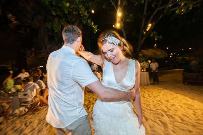 Beth and Nick's wedding photos in Krabi Thailand at Rayavadee resort.