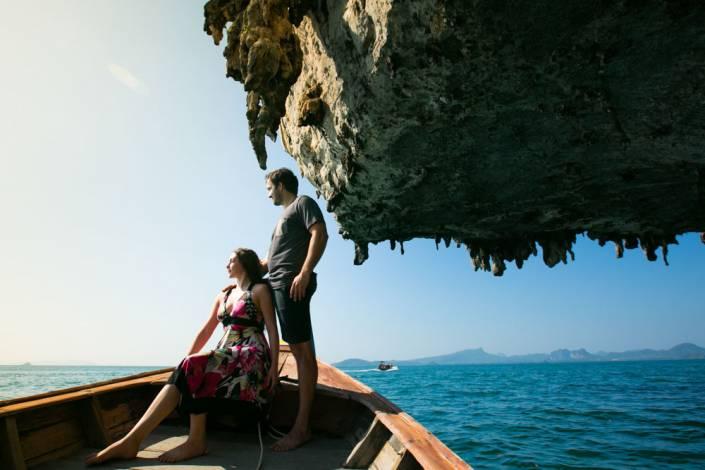 Tara and Mike honeymoon photography shoot in Krabi around Koh Porda and Railay beach during sunset.
