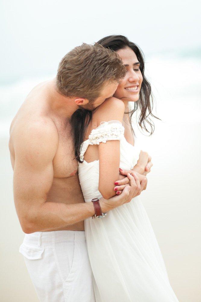 Larisse and Dustin's honeymoon photo shooting in Phuket Thailand in KaTa beach.