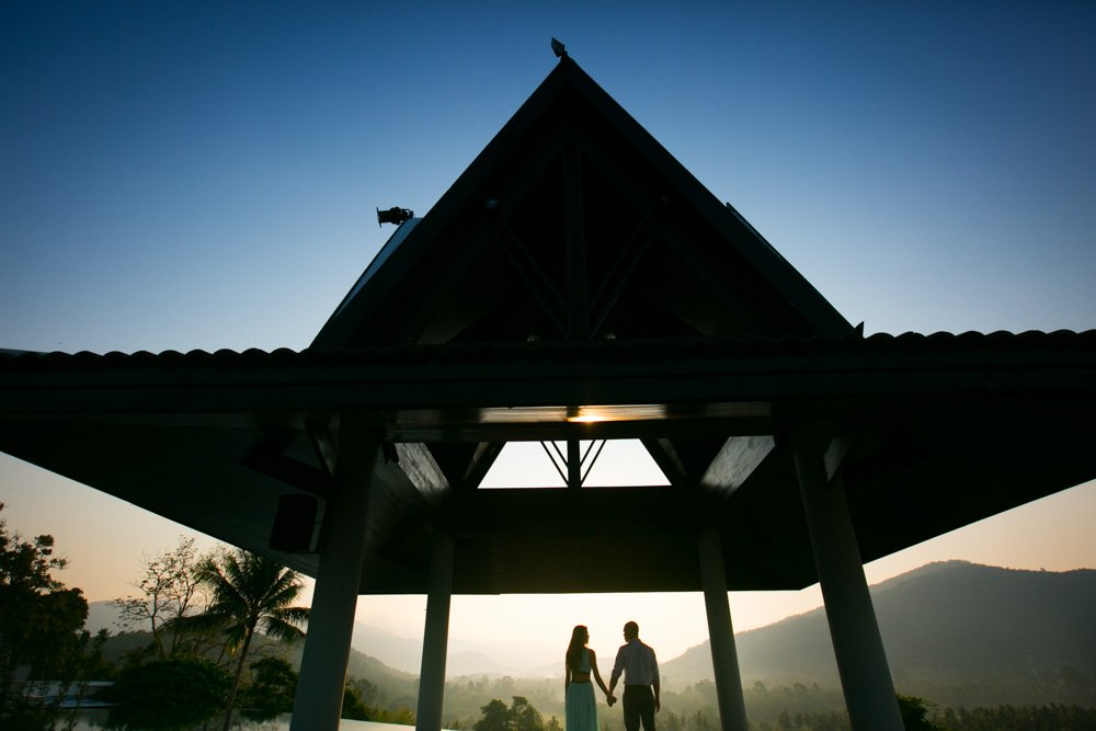 engagement shoot for weddings couples who come to getting married at The Inter Continental Samui Baan Taling Ngam Resort Thailand.