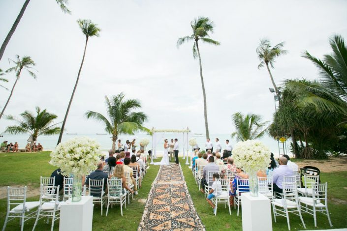 Andrea and Phil's beach wedding in Phuket Thailand,The wedding held at Cape Panwa resort and Spa.