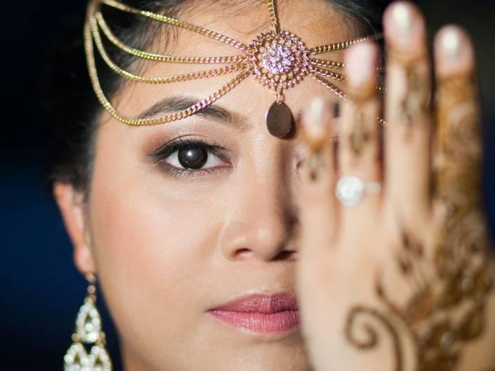 Nisha and Vikash indian wedding on Mehendi night party photographyThailand Indian Wedding