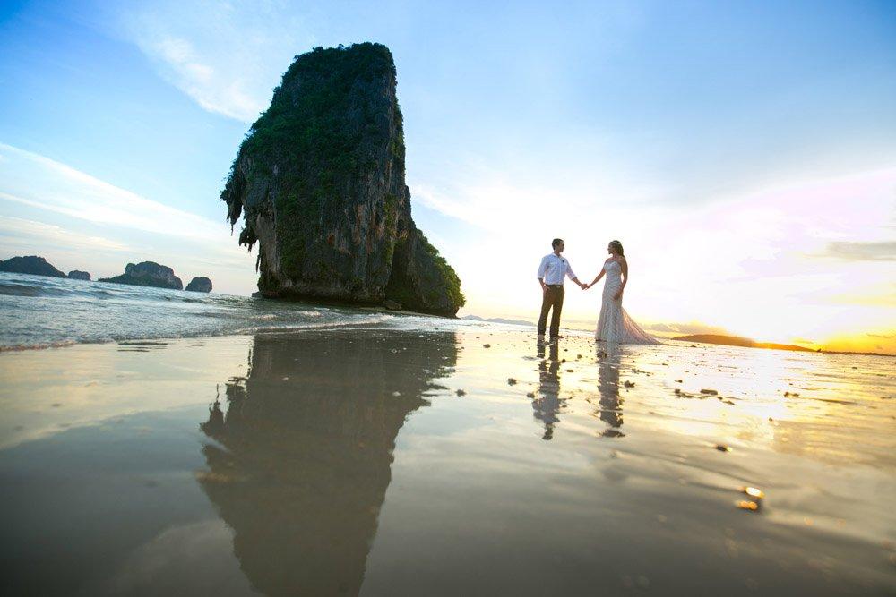 Krabi wedding photography for Dustin and Brandy's wedding in Rayavadee Railay beach.