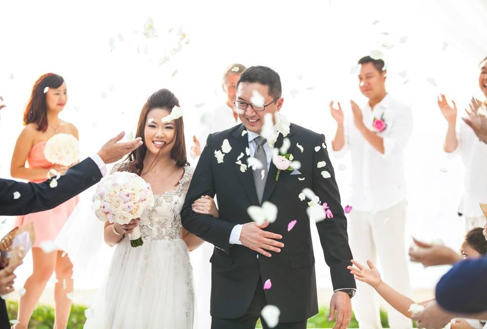 Frederick & Angel 's wedding at Natai beach Phang-nga Thailand