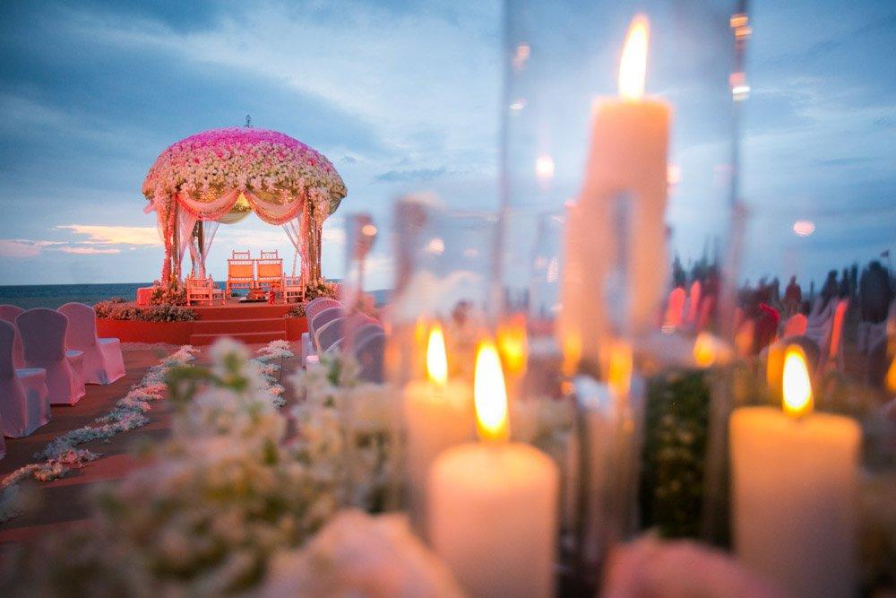 Indian wedding set up in Phuket Thailand