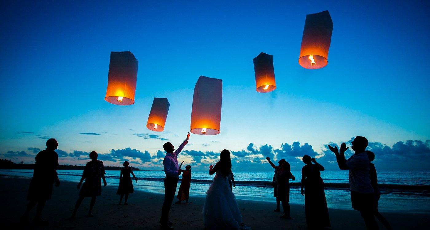 Indian wedding ceremony in Phuket Thailand.