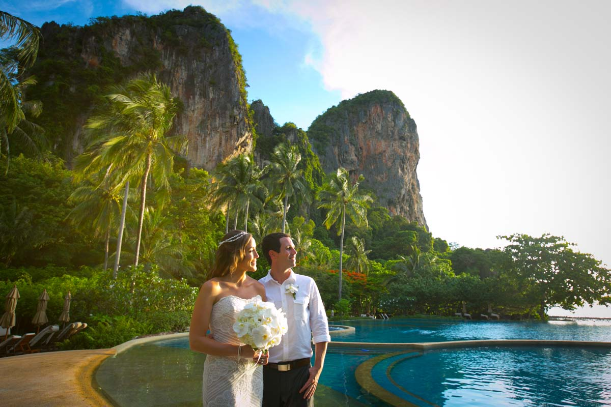 Thailand Beach wedding photography in Krabi,Rayavadee resort,Thailand