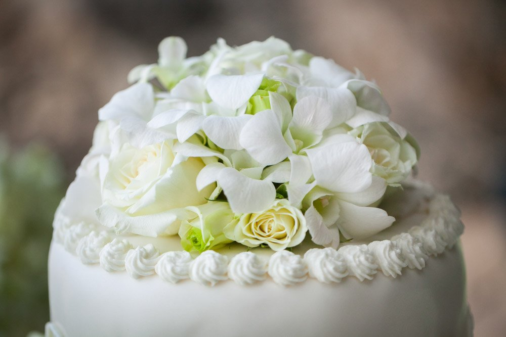 Wedding photography of beautiful Orchid decorated wedding venue in Thailand.
