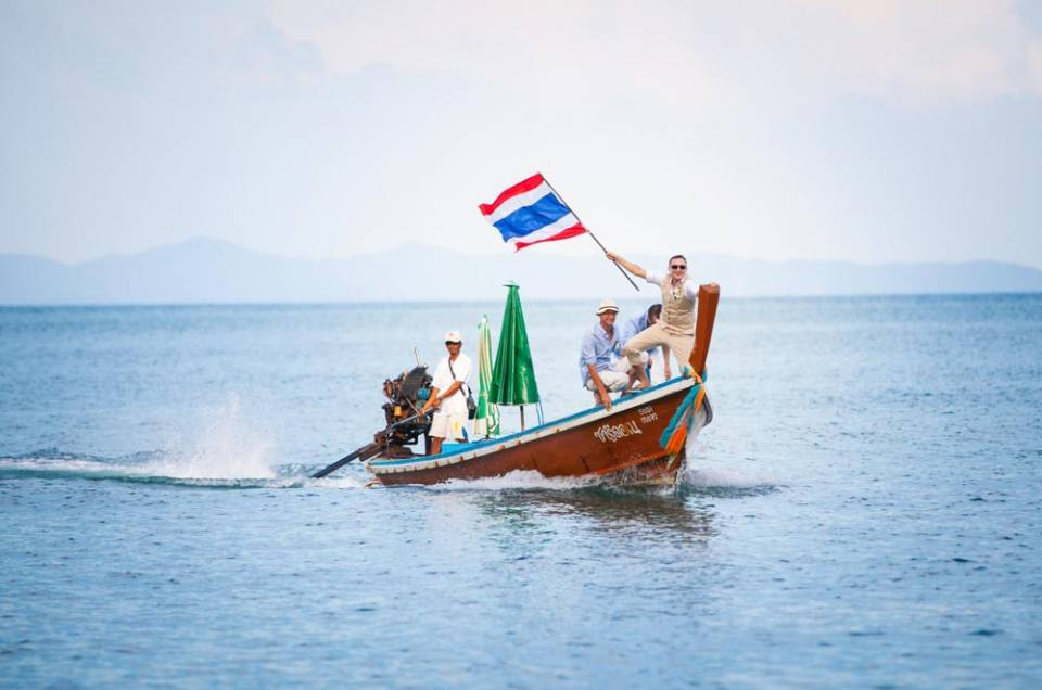 Long tail boat with BIG surprise in wedding at Phuket Thailand