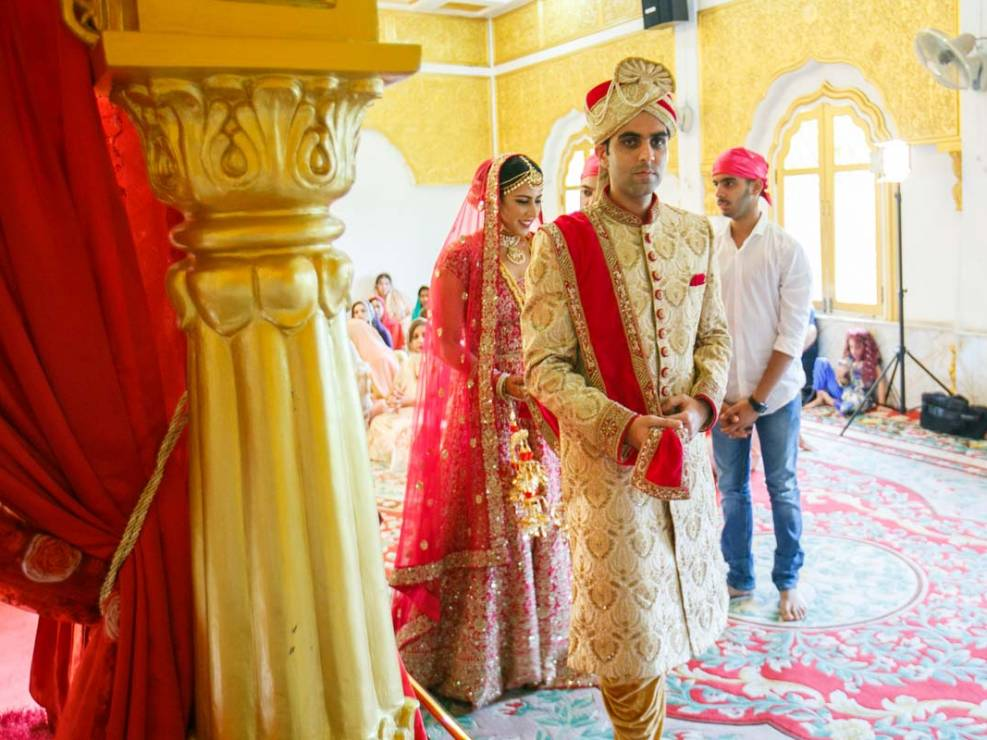 Sid and Mahek Indian wedding ceremony in Hindu temple in Phuket Thailand