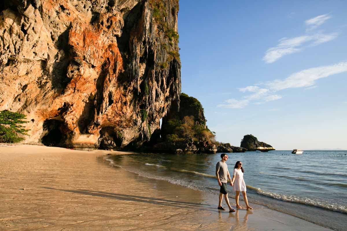 Engagement photography for Tom with Jad in Railay Krabi ,Thailand