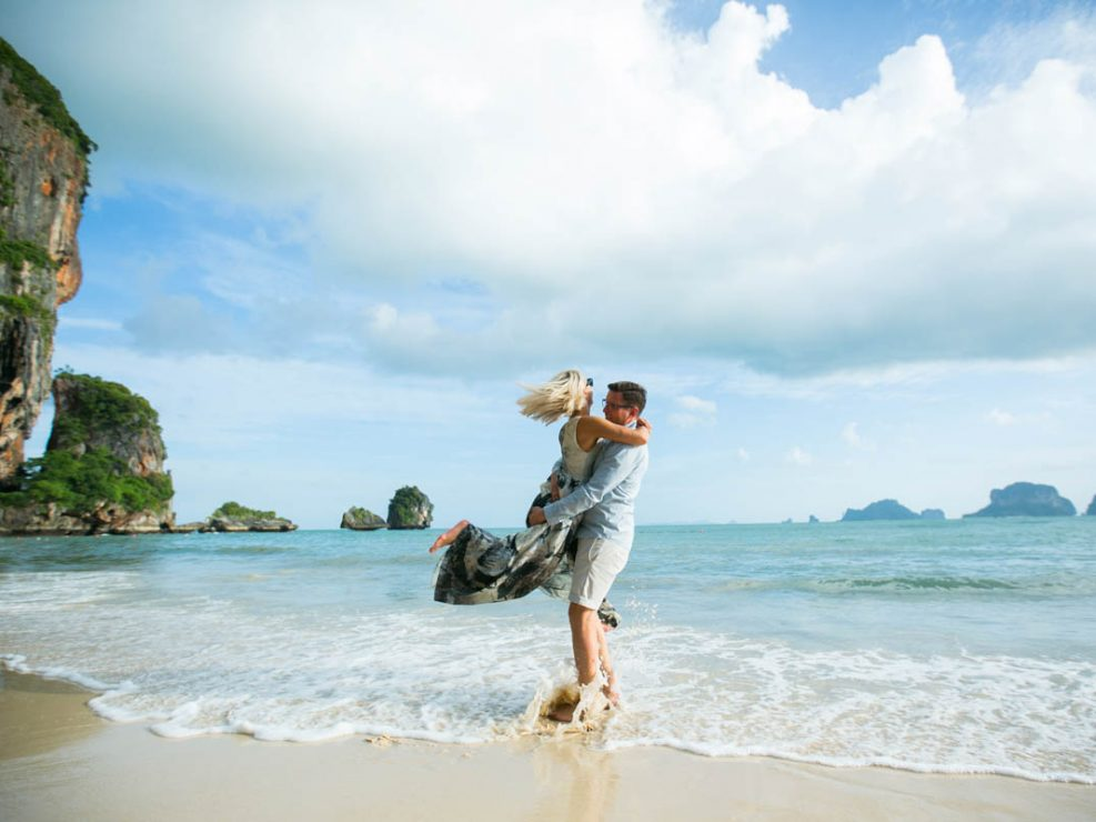 Honeymoon photos in Railay beach Krabi Thailand for Milda and Arturas.