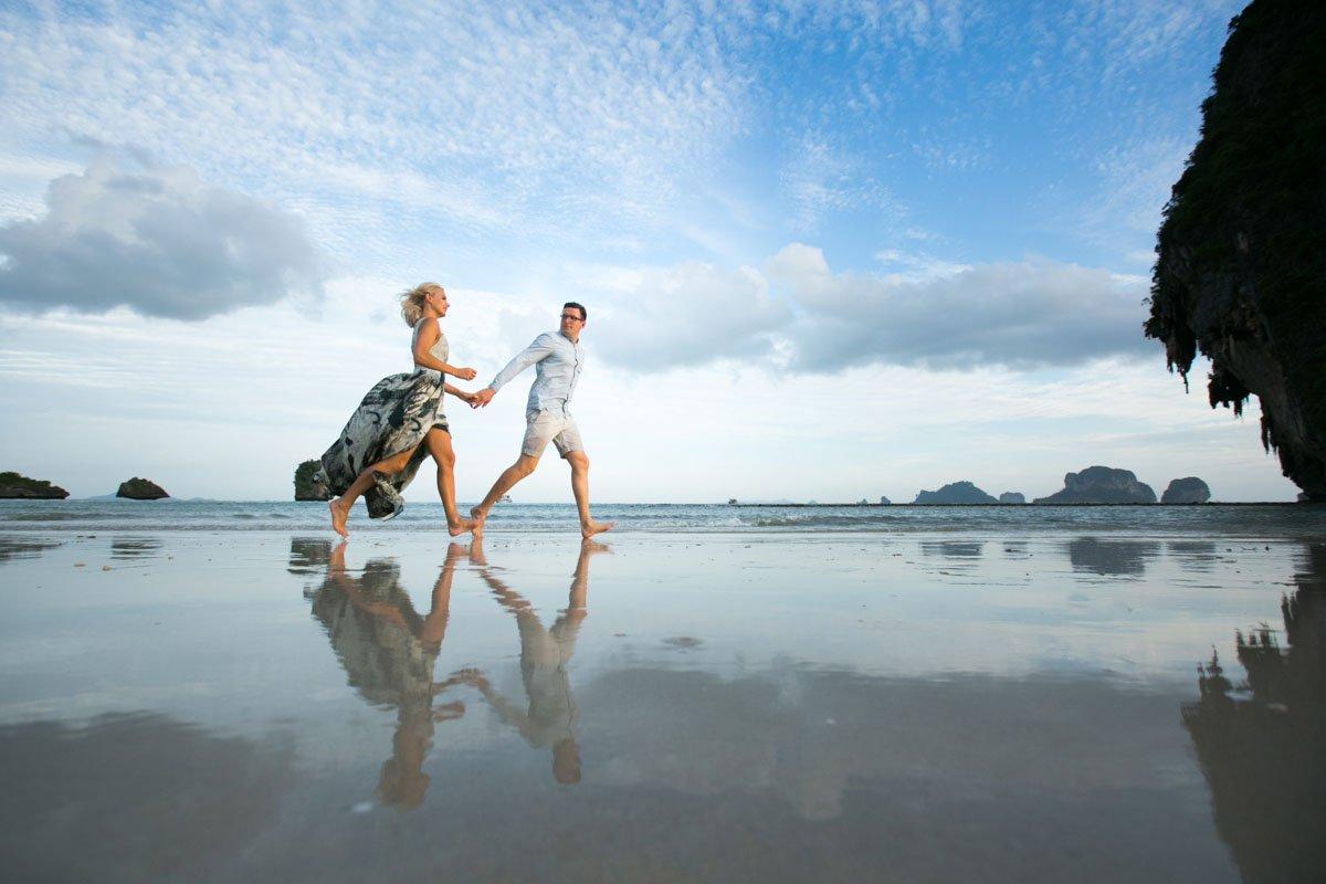Honeymoon photos in Railay beach Krabi Thailand for Milda and Arturas.
