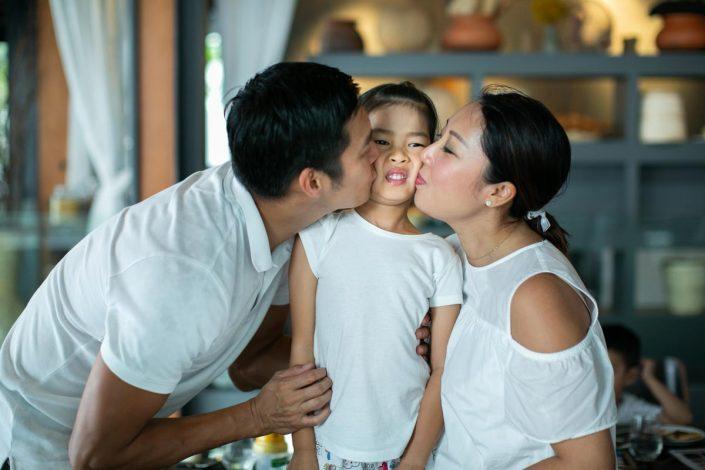 Family photography in Aleenta resort Phuket Thailand