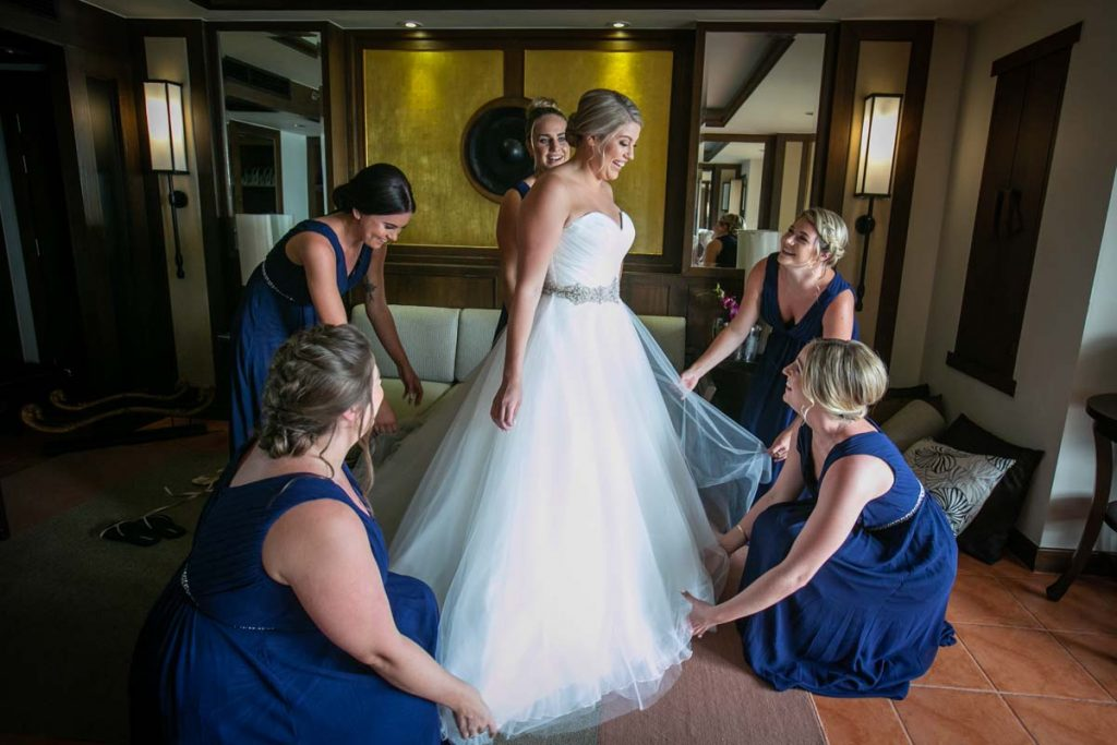 Brittany with Ben getting ready for there wedding in  Phuket Thailand, Photography by Phuket wedding photographer