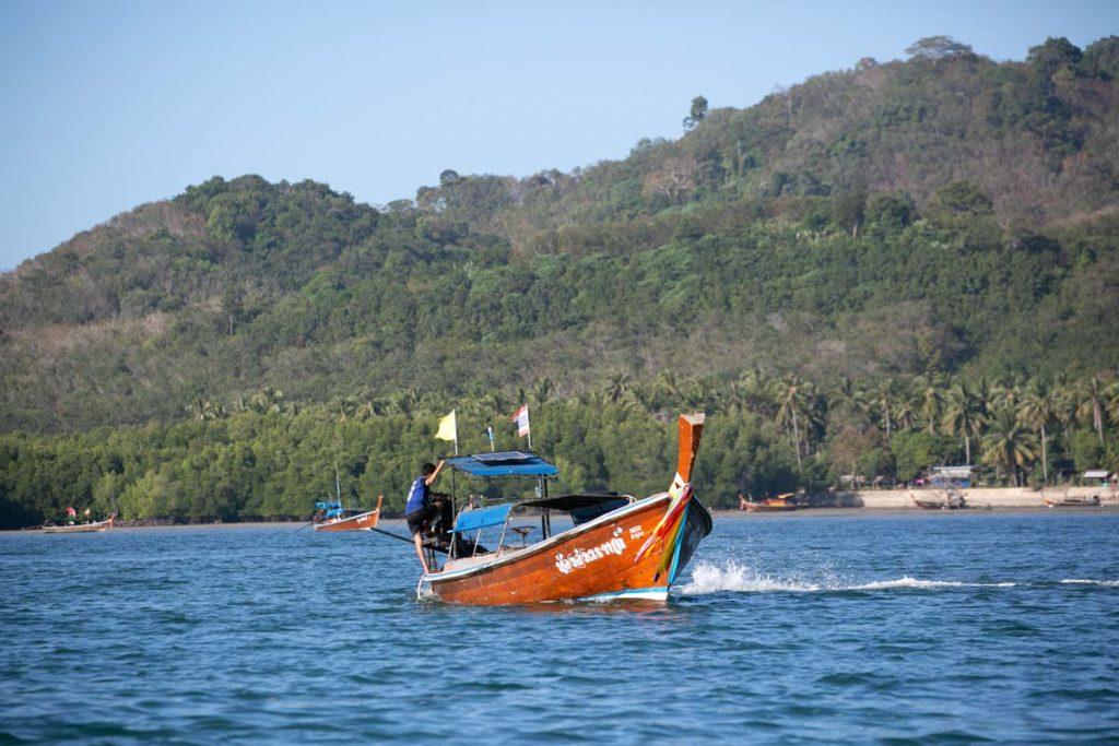 Long Tail boat at Sivalai Resort at Koh Mook Trang