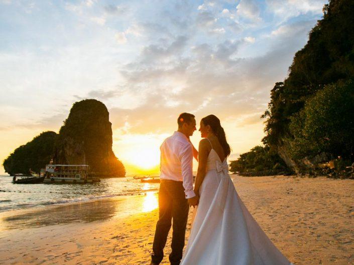 Rayavadee wedding photo of Zoey with Robert