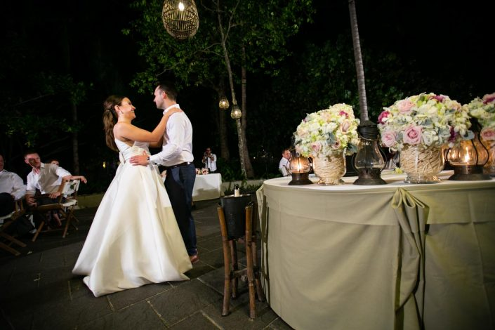 Reception photo of Zoey with Robert wedding